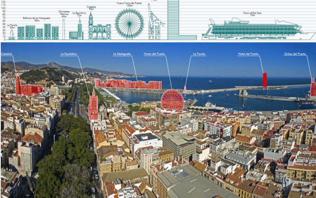 Distancias, tamaños e impacto de la Torre del Puerto
