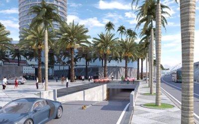 500 plazas de aparcamiento tendrá el hotel de la Torre del Puerto