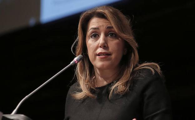 La presidenta de la Junta de Andalucía, Susana Díaz, apoya la Torre del Puerto: «Siempre ayudaré para que Málaga sea una ciudad de oportunidades»